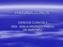 HISTORIA CLÍNICA - El rinconcito en la red de la