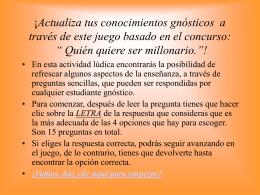 Pregunta de la Semana - Gnosis. Instituto Cultural