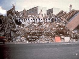 Terremoto del 85. - Formacionciudadana1