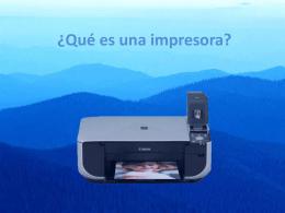 ¿Qué es una impresora?