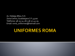 UNIFORMES ROMA - Directorio Comercial de Empresas