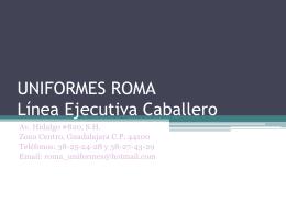 UNIFORMES ROMA línea Ejecutiva Caballero
