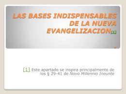Las bases de la nueva evangelizacion