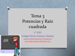 Tema 3 Potencias y Raíz cuadrada
