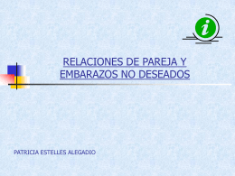 RELACIONES DE PAREJA Y EMBARAZOS NO DESEADOS