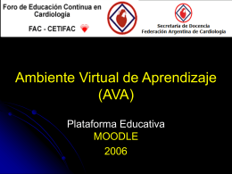Ambiente Virtual de Aprendizaje (AVA)