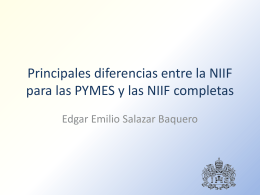 Principales diferencias entre la NIIF para las