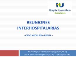 Reuniones interhospitalarias acr caso lesión renal