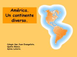 América. Un continente diverso.