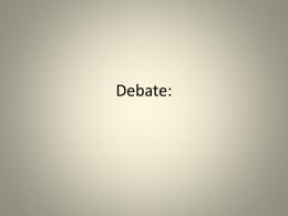 Debate: