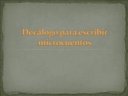 Decálogo para escribir microcuentos