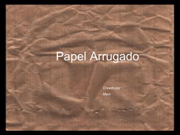 PAPEL ARRUGADO