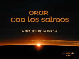 SALMO 63 - Liturgia de las Horas, Oficio Divino