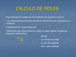 CALCULO DE MOLES - Salesianos Alameda