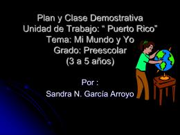 """Clase Demostrativa Unidad de Trabajo: """"Mi Mundo y"""