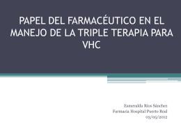 PAPEL DEL FARMACÉUTICO EN EL MANEJO DE LA TRIPLE