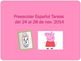 Preescolar Español Tareas del 24 al 28 de nov.