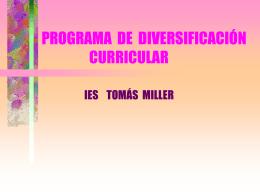 PROGRAMA DE DIVERSIFICACIÓN CURRICULAR