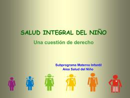 LA SALUD INTEGRAL DEL NIÑO