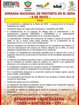 9 DE MAYO JORNADA NACIONAL DE PROTESTA EN EL SENA.