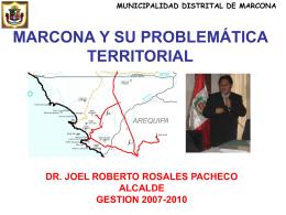 MARCONA Y SU PROBLEMÁTICA TERRITORIAL