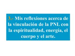 PLATAFORMA FLOTANTE 2009 La PNL y su relación con