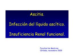 Ascitis Infección del líquido ascítico