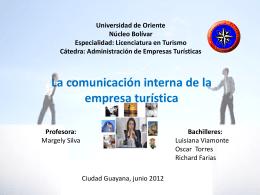 Universidad de Oriente Núcleo Bolívar Especialidad