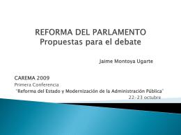 REFORMA DEL PARLAMENTO Propuestas para el debate