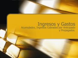 Ingresos y Gastos - ::WEB DEL PROFESOR::
