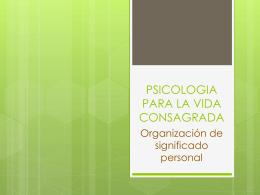 PSICOLOGIA PARA LA VIDA CONSAGRADA