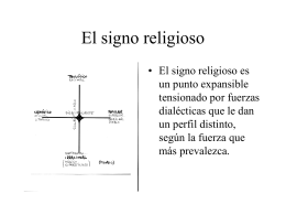 El signo religioso