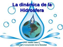 La dinámica de la Hidrosfera