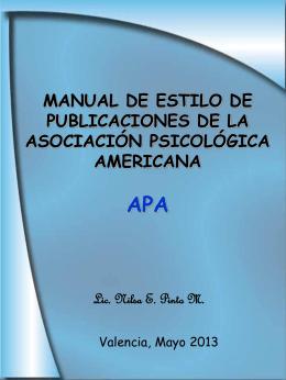 APA ASOCIACIÓN PSICOLÓGICA AMERICANA