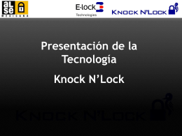 Knock Code Locks