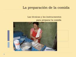 Preparación de la comida