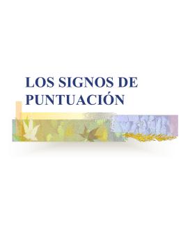 LOS SIGNOS DE PUNTUACIÓN - Mrs.O`Keefe