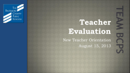 Teacher Evaluation - Baltimore County Public