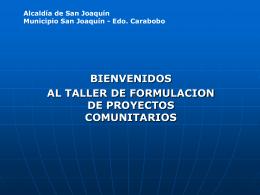 PROYECTOS COMUNITRARIOS - Blogs de Coordinaciòn