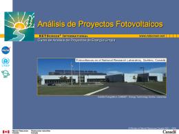 Análisis de Proyectos Fotovoltaicos