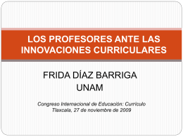 Desarrollo del currículo y formación de profesores