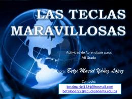 LAS TECLAS MARAVILLOSAS