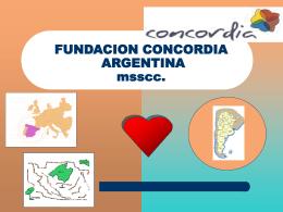 FUNDACION CONCORDIA ARGENTINA msscc.