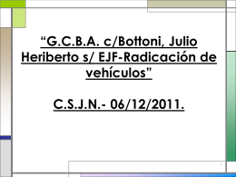 GCBA c/ Bottoni, Julio Heriberto s/ EJF-