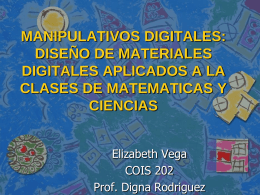 MANIPULATIVOS DIGITALES: DISEÑO DE MATERIALES