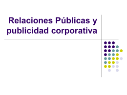 Relaciones Públicas y publicidad corporativa -