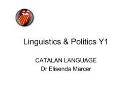 Linguistics & Politics Y1