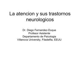 La atencion y sus trastornos neurologicos