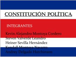 CONSTITUCIÓN POLÍTICA - Profe Patricia Jiménez |
