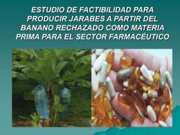 ESTUDIO DE FACTIBILIDAD PARA PRODUCIR JARABES A